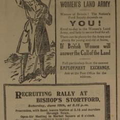 Women at War Slide show | Herts & Essex Observer, Jun 1918