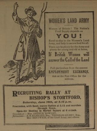Working on the Land | Herts & Essex Observer, Jun 1918